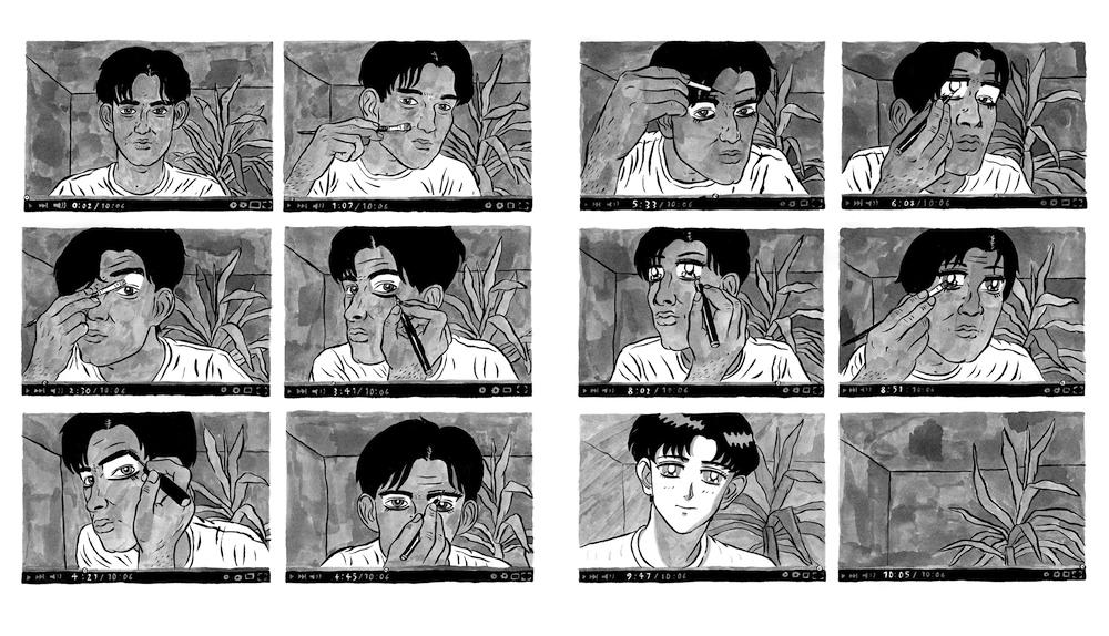 Vinz Schwarzbauer, Manga Eyes, erschienen im Landjäger Magazin, 2015