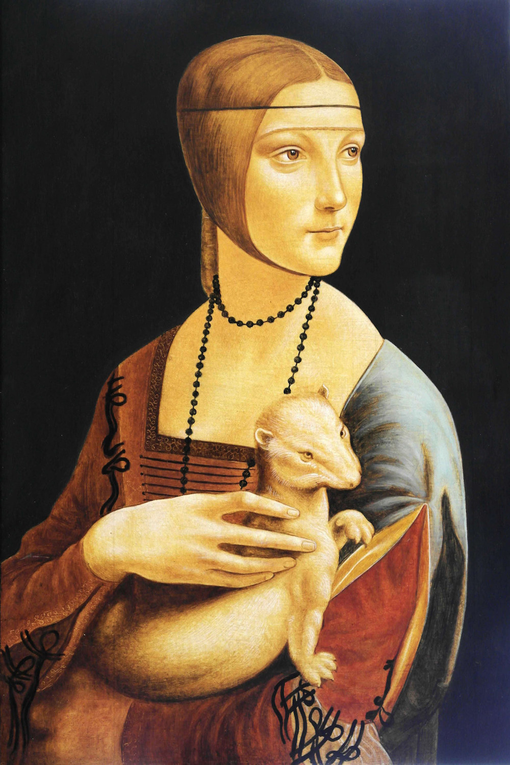 George Gheorghe - Kopie nach Leonardos Dame mit dem Hermelin