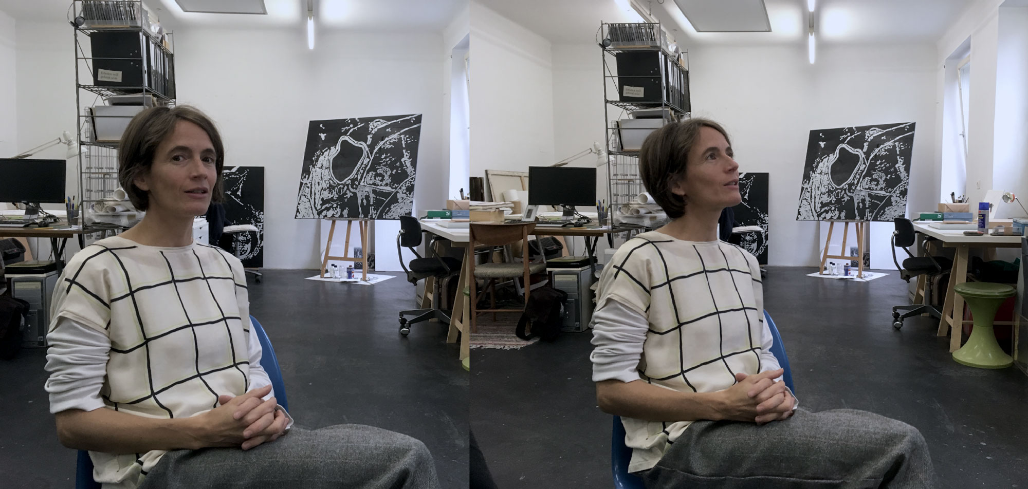 Catherine Ludwig im Atelier