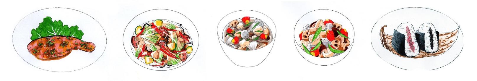 Ikuyo Hori - Speisenillustrationen